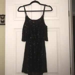 Sparkly black New Years dress!